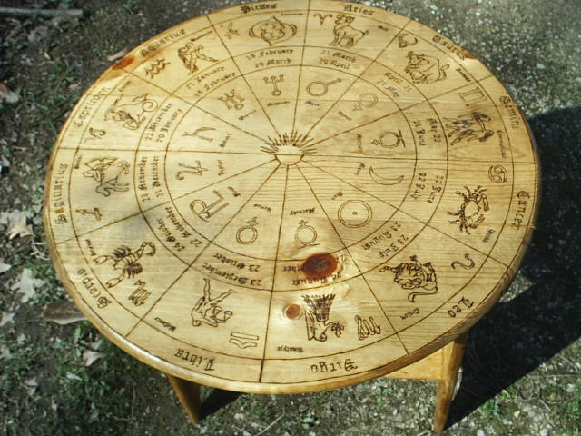 Astrology Wheel Tarot Table