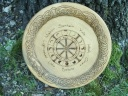 This Wiccan altar is built in reverence for the wheel of the year and honor to the ancients