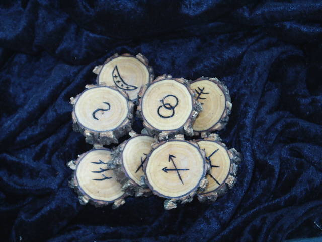 Set of 8 Witches Runes based on Symbols written by Patricia Crowther